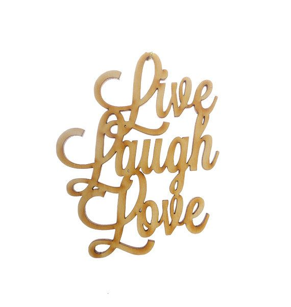 Live Laugh Love Ornament - Live Laugh Love Gifts - Live Laugh Love Gift Topper - Live Laugh Love Ornaments - Live Laugh Love Tag