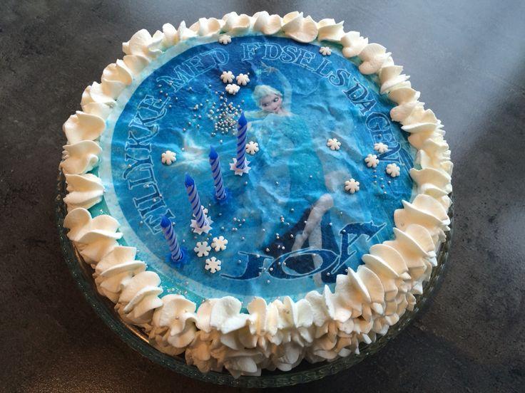 Frost lagkage til Joa's 4 års fødselsdag