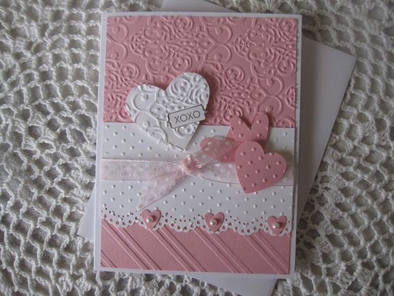 stampin up handmade valentine cards | ... www.etsy.com/listing/175947762/stampin-up-handmade-greeting-card-xoxo