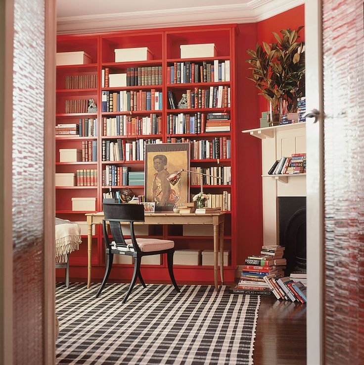 Dash And Albert Rug In Red Library