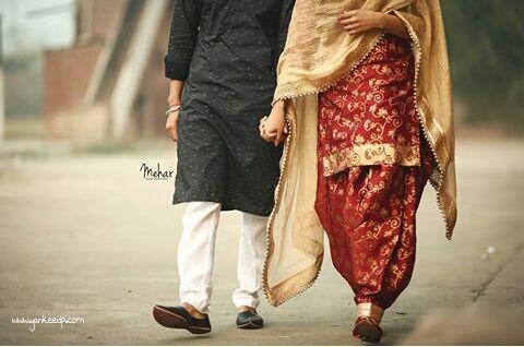girls wedding dresses,couples dp,punjabi suit: punjabi couple dp