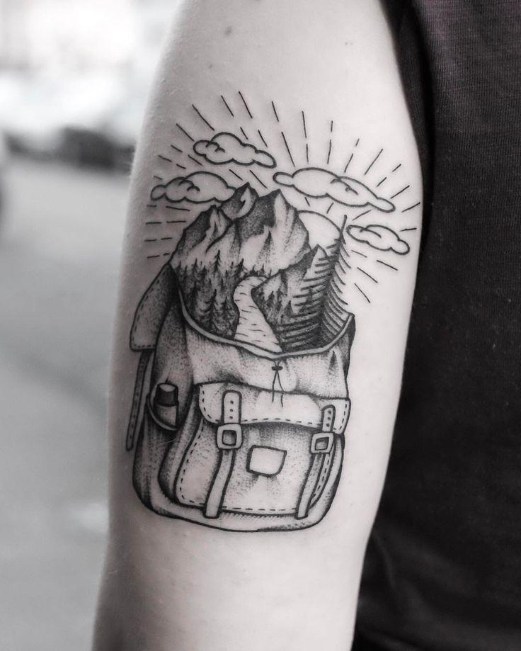 """284 curtidas, 8 comentários - Roald Vd Broek (@roaldvdbroektattoo) no Instagram: """"Little backpack from my one-offs. Done @salonserpenttattooparlour. #blxckink #tattooamsterdam…"""""""