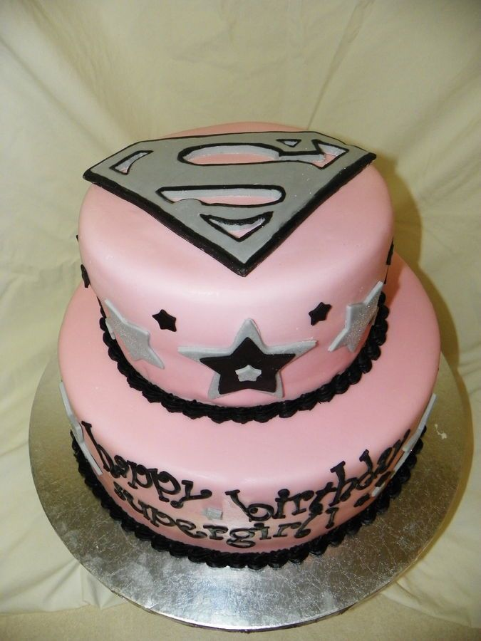 Supergirl Birthday Cake Kids Parties Pinterest
