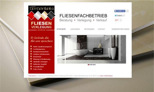 Homepage Fliesenleger  www.teutenberg-fliesenverlegung.de