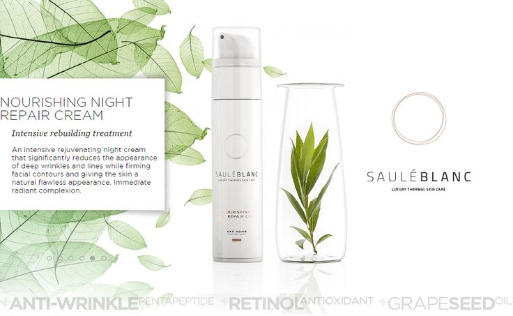 SB Nourishing Night Repair Cream+RETINOL. SHOP ONLINE: https://sauleblanc.com/nourishing-night-repair-cream