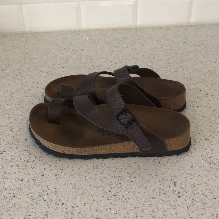 Birkenstock Shoes | Birki Fuji Toe Wrap Sandal By Birkenstock | Color: Brown | Size: 6