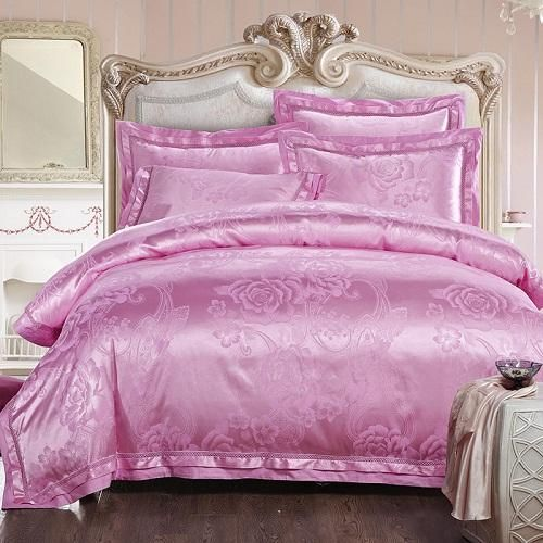 46pc golden white color stain luxury bedding set king queen size royal bed set
