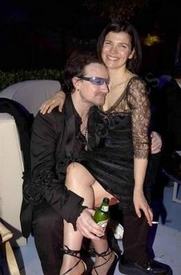 Bono and Ali   They are so cute together and married for 30 years!!!