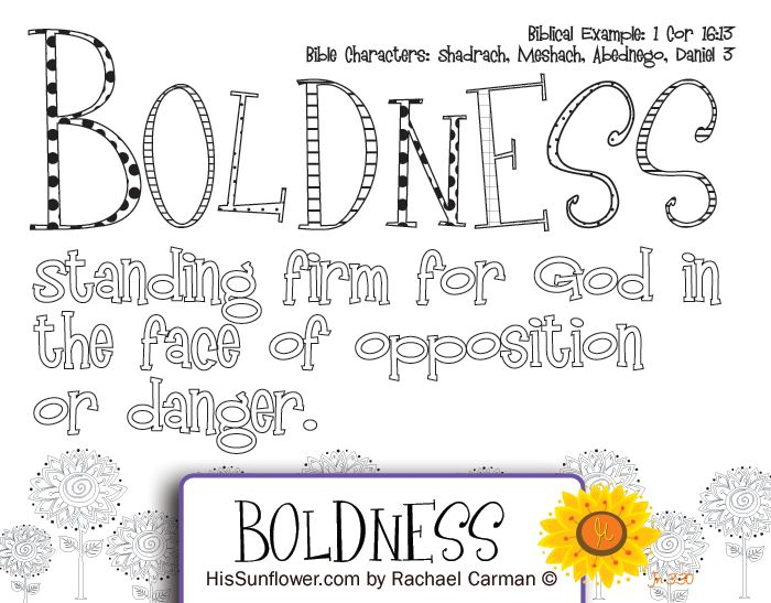 Character Quality Boldness Standing Firm For God In The