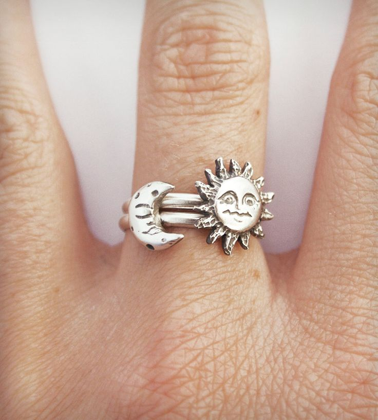 Sun and Moon Stacking Ring
