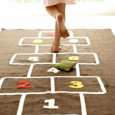 DIY gifts for kids, DIY gifts, homemade hopscotch