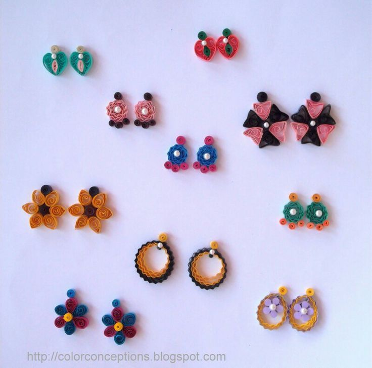Quilling Earrings Stud | Quilling earrings