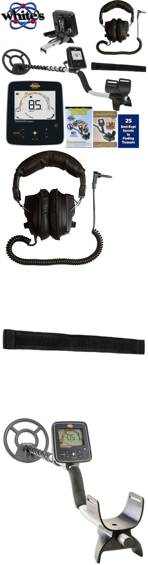 Metal Detectors: Whites Treasuremaster Metal Detector Waterproof Search Coil And Headphones BUY IT NOW ONLY: $279.0