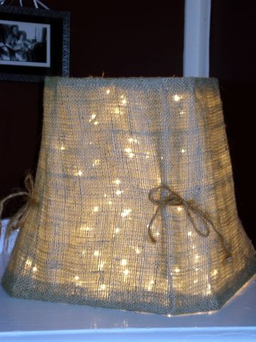 Burlap Lamp Shade  Imagine This Bigger As Your Cake Table