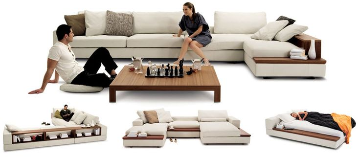 I love this design. Easily converts into a bed but doesn't look tacky like sofa beds usually do.