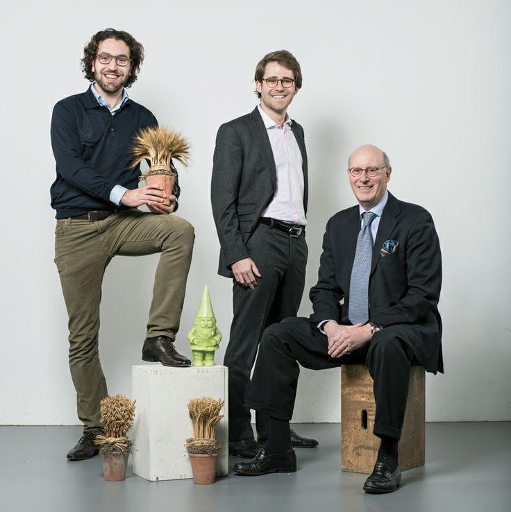 50 start-up suisses dans lesquelles investir: Agflow. Siavosh Arasteh, Nicolas Carteron et James Dunsterville. © François Wavre/Rezo