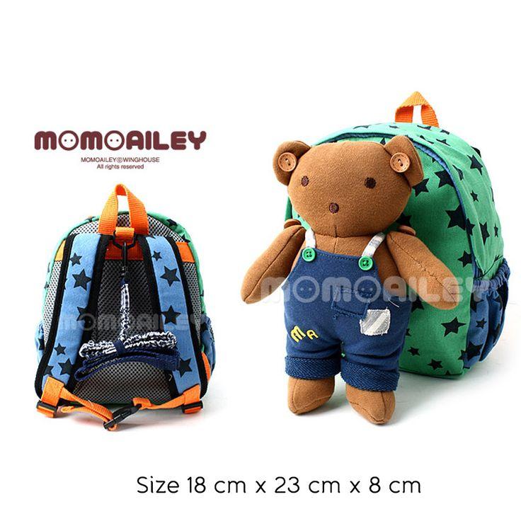 Bag - Winghouse Momoailey Green Bear Rp 210.000  #tas #anak #sadinashop