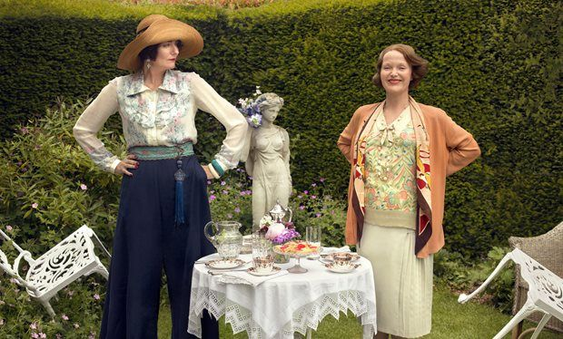 """Anna Chancellor and Miranda Richardson in """"Mapp and Lucia."""" Downton Abbey used up Britain's stock of period frocks and they had to get theirs from Paris."""