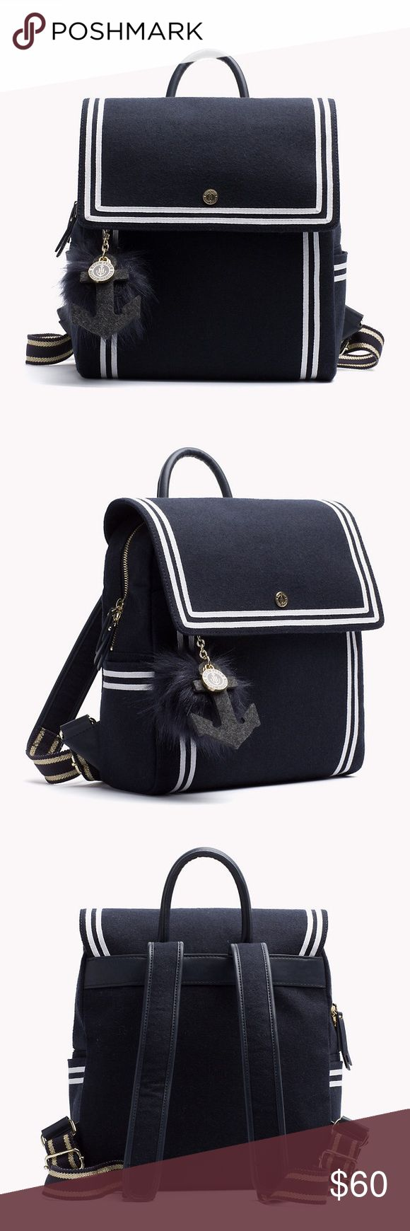Nautical mini backpack Sail into trend right style with Tommy x Gigi nautical themed mini backpack Tommy Hilfiger Bags Backpacks