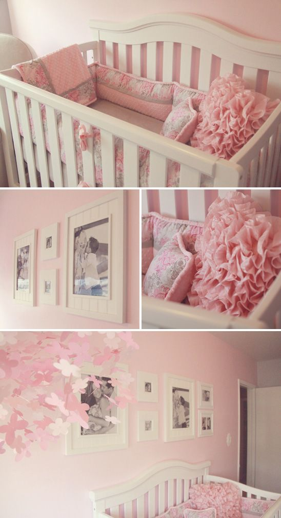 Pink and Grey Nursery | Pretty Pink, White and Gray Nursery - On to Baby