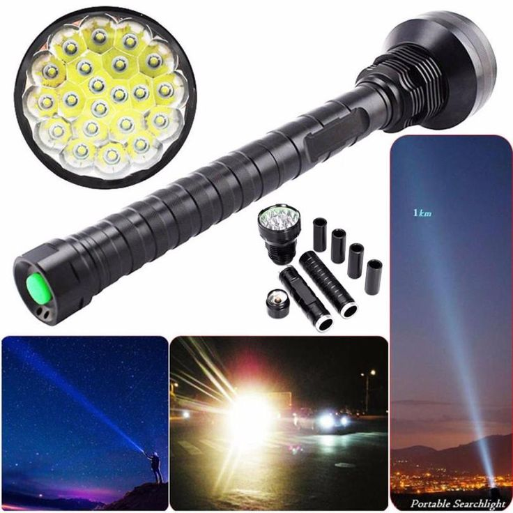 world-wind#930 28000LM CREE XM-L LED 21x T6 Super Flashlight Torch Lamp Light 5Mode 26650 18650  free shipping #Affiliate