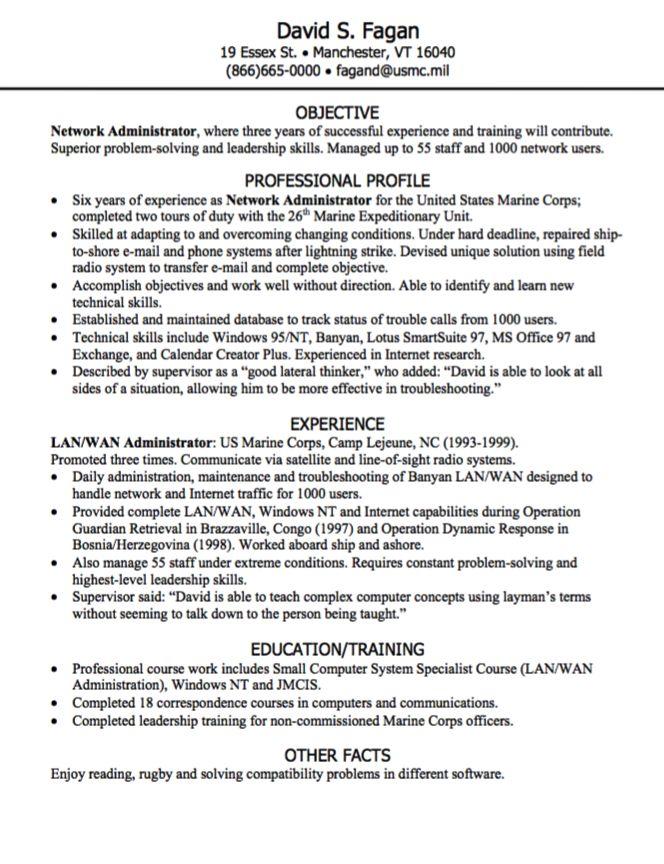 network administrator resume sample Examples Resume CV