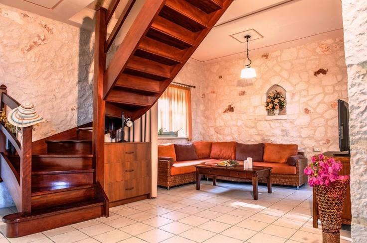 Emerald Classic Large Villa in Zante. Interior - lounge area of the villa.  http://www.emerald-villas.gr