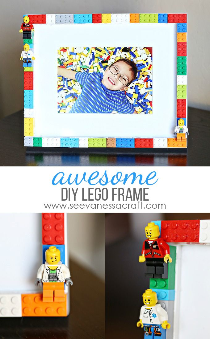 Create a DIY LEGO picture frame to display a favorite photo memory. Using items from around the house this craft will be an easy and really fun addition to your home decor.