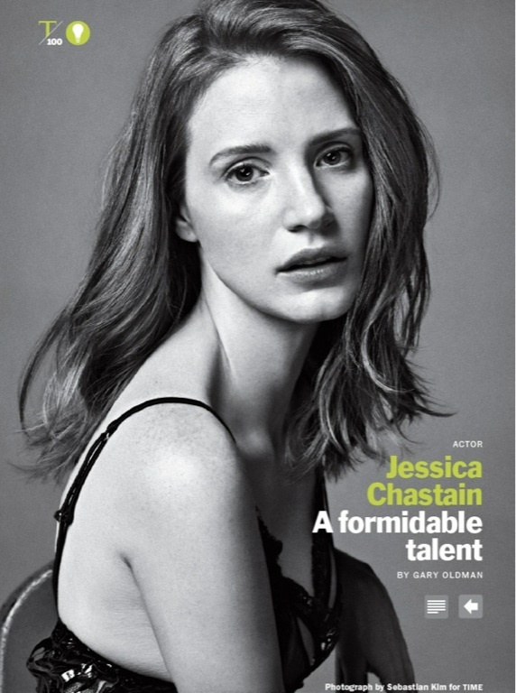 (Jessica Chastain) Oscar-nominated supporting actress ('The Help') and star of 'Zero Dark Thirty'