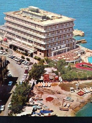Lebanon Liban Postcard Beyrouth Beirut Cpa Vintage 1960s PC St George Hotel