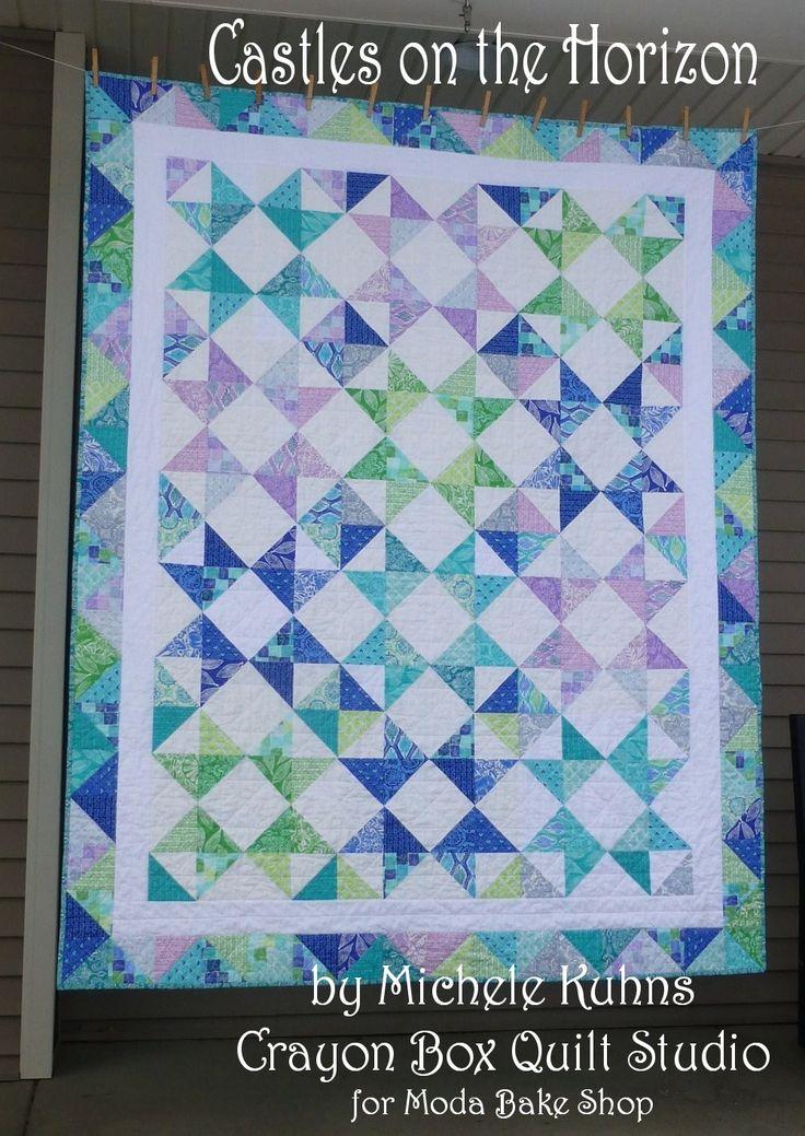 horizon 4 charm packs white 3 charms or 2 yrds border 1 yrd white binding 3/4 yrd back 5 1/2 yrds