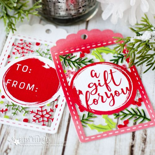 Printed Holiday Tags by Betsy Veldman for Papertrey Ink (September 2017)