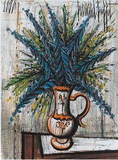 Bernard Buffet - bouquet bleu