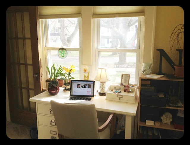 26 best images about desk area on pinterest Study table facing window