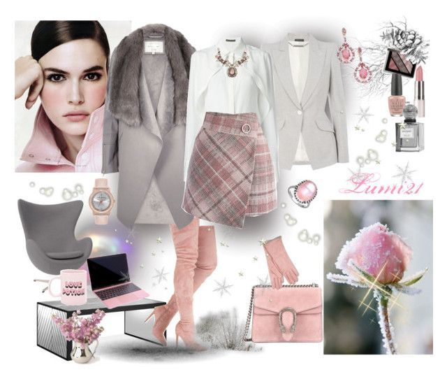 WINTER ON OFFICE by lumi-21 on Polyvore featuring Alexander McQueen, River Island, Chicwish, Gucci, Mystic Light, Ted Baker, Giorgio Armani, Balmain, Burberry and Rove Concepts