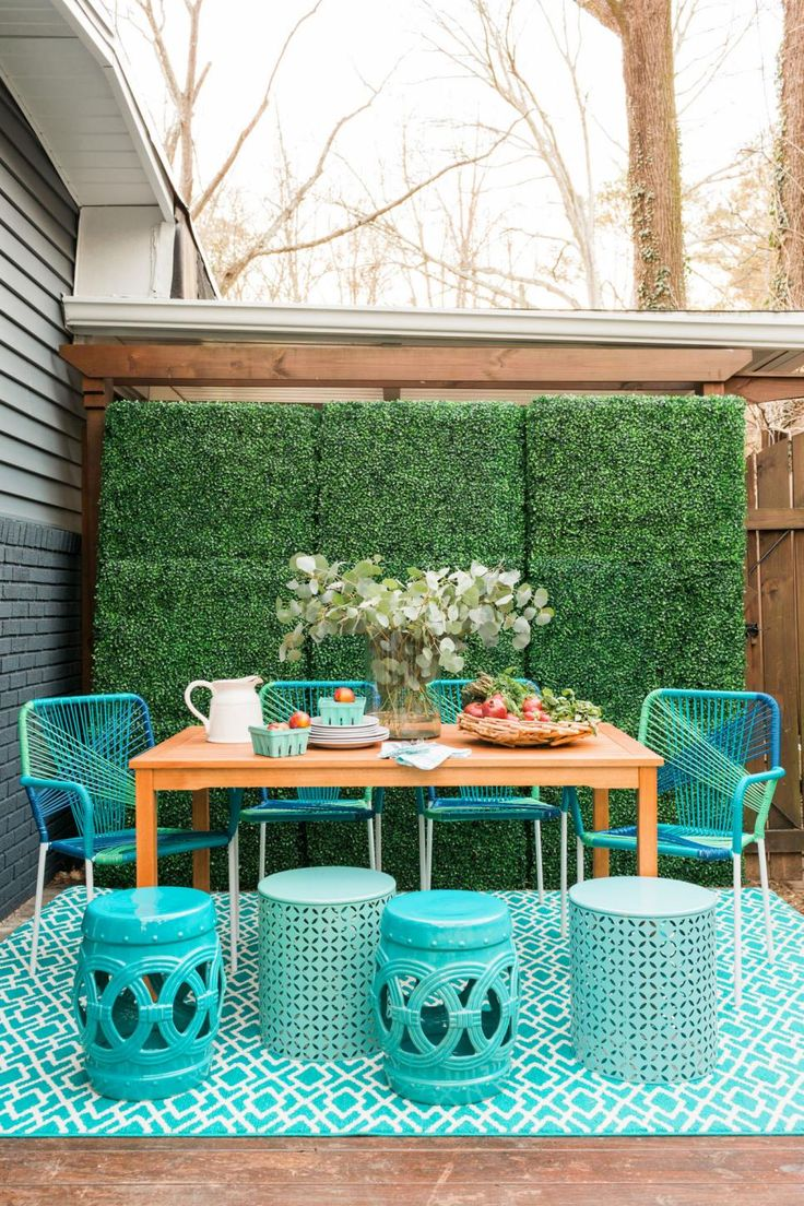 19 spring deck ideas deck makeoverhouse of turquoiseturquoise home decorturquoise cottageoutdoor - Outdoor Home Decor Ideas