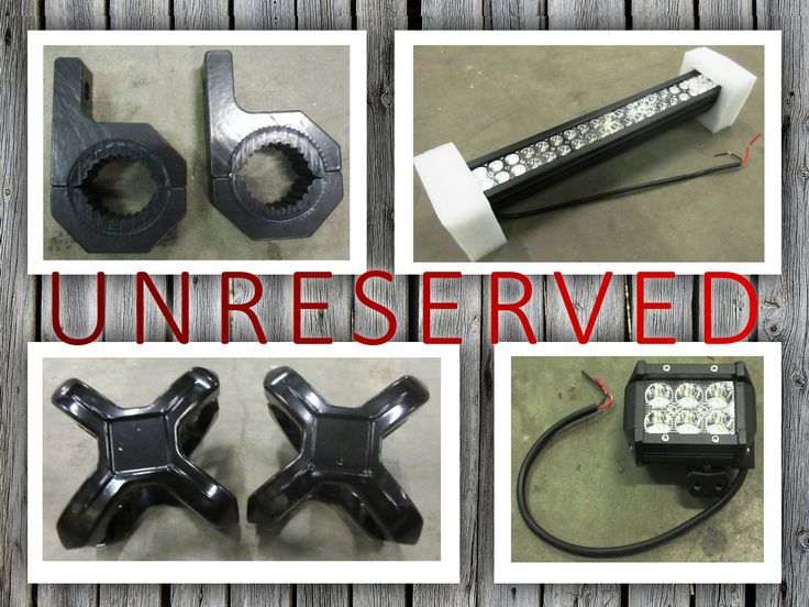 Light bars - spot lights - clamps - brackets - accessories all in the UNRESERVED 4x4 LED Lighting Wipeout Auction!