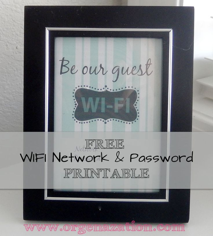 Password Printable Wi Fi And Home On Pinterest