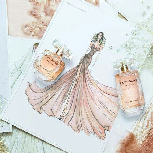 Image via We Heart It #art #beautifull #design #dress #eliesaab #fashion #parfume #pink #sparkleinsocalcontest