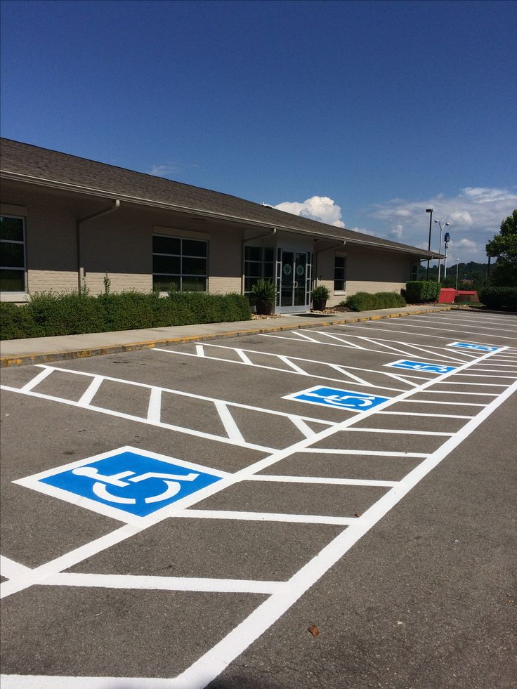Stripes for Parking Handicap Compliance in Knoxville TN aaastripepro@gmail.com Pigeon Forge TN 865-680-9225