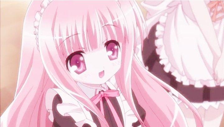 アニメ 可愛い 女の子 ピンク ピンク あおり イラスト アイコン かわいい 可愛いイラスト