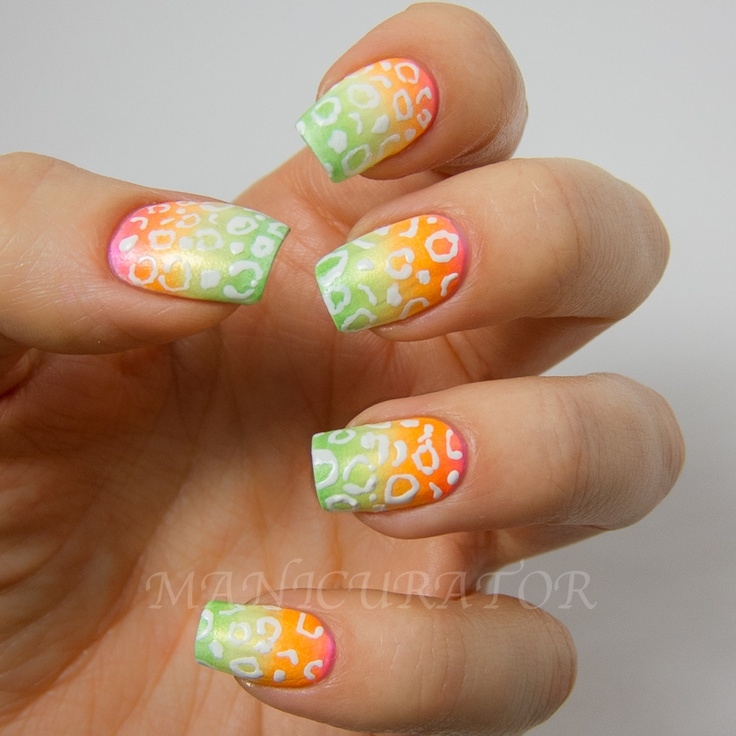 manicurator: Neon Leopard Nail Art with Nail Candy Pen + GIVEAWAY