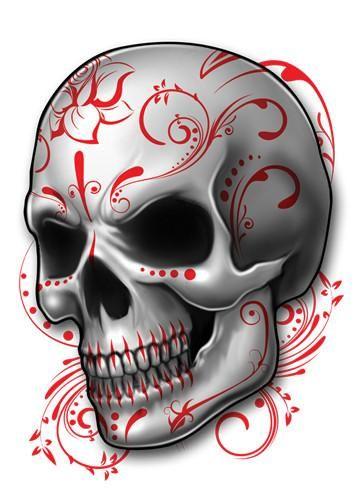 Sugar Skull Skull Temporary Tattoos - Skull Mix Tattoos