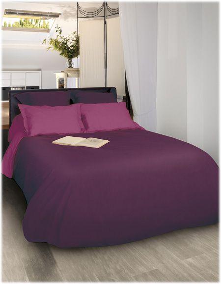 Parure de lit en percale de coton. Découvrez la gamme Linge de Lit Uni de Fil Blanc !