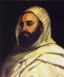 Portrait de l`Emir Abd El Kader
