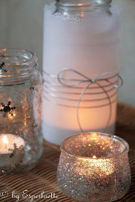 Pour terminer la semaine en beauté, trois petits DIY {Do It Yourself} faciles à réaliser & lumineux: du verre, des paillettes, des éclats a...