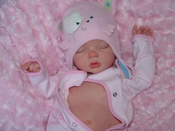 Reborn Fake Baby life like real looking by BabybubblesNursery