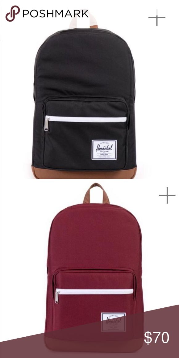 Herschel backpack In new condition. Selling in black, red, and navy blue. Herschel Supply Company Other