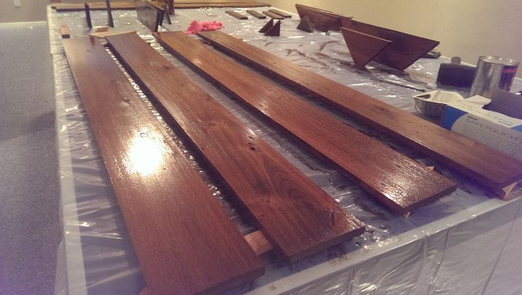 Wood stained and Polyurethane