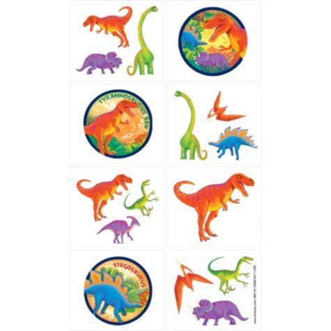 Prehistoric Dinosaurs Tattoos 1 Sheet - Party City. $0.99 for 16 tattoos